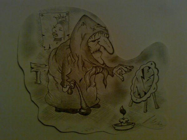 Карикатура: Свет мой зеркальце скажи...., Константин Мухоморов