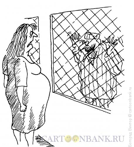 Карикатура: Надежно спрятался, Богорад Виктор