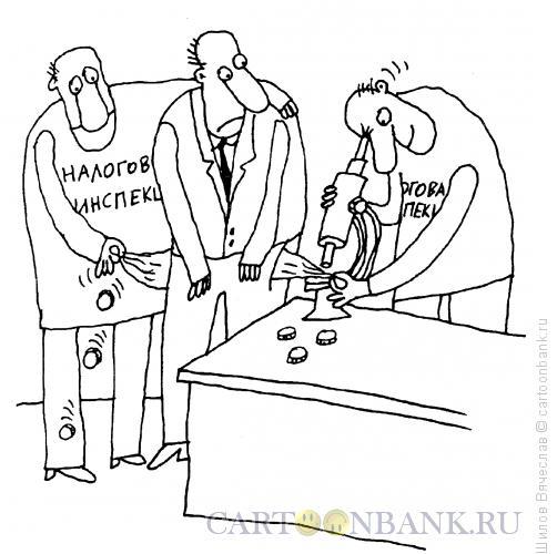 Карикатура: Пристальное внимание, Шилов Вячеслав