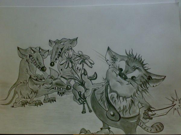 Карикатура: Ребята ! Давайте жить дружно !, Константин Мухоморов