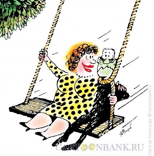Карикатура: Качели любви, Сергеев Александр