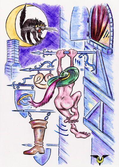 Карикатура: Вывески, Владимир Уваров