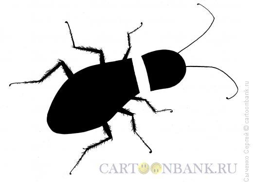 Карикатура: На смерть таракана, Сыченко Сергей