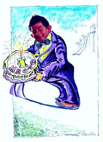 Карикатура: Сочинский Карлсон, Владимир Тихонов