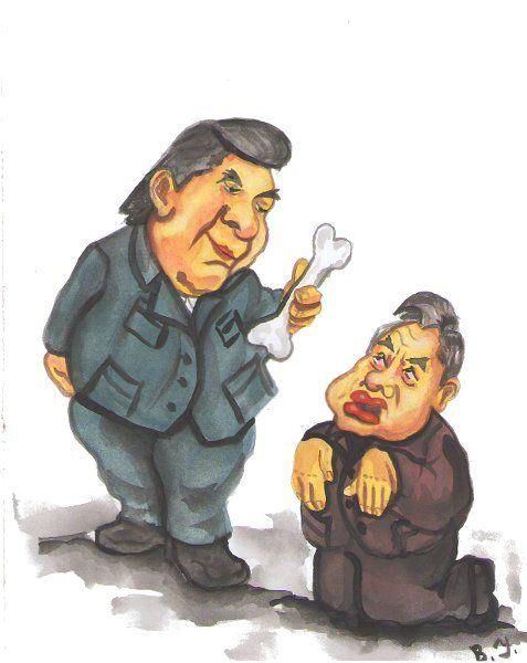 Карикатура: Украинская политика коммунисты и регионалы.