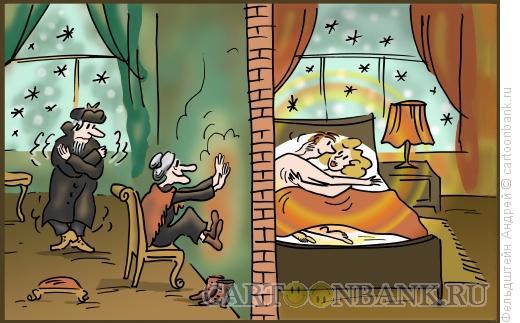 Карикатура: Зимние радости, Фельдштейн Андрей