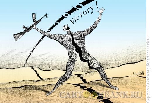 Карикатура: Победа в информационной войне, Сергеев Александр
