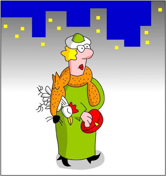 Карикатура: Дама с ..., Дмитрий Бандура
