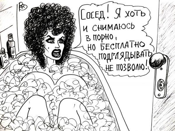 Карикатура: Актриса, Валерий Каненков