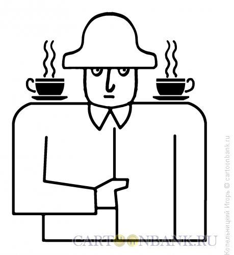 Карикатура: Чашки погоны, Копельницкий Игорь