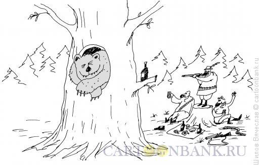 Карикатура: Охотнички, Шилов Вячеслав