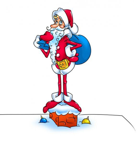 Карикатура: Санта