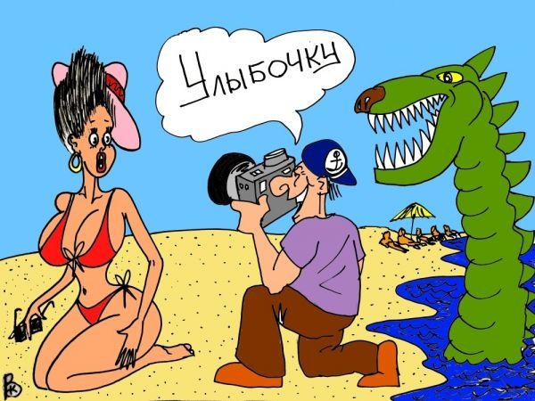 Карикатура: Весёлый фотограф, Валерий Каненков