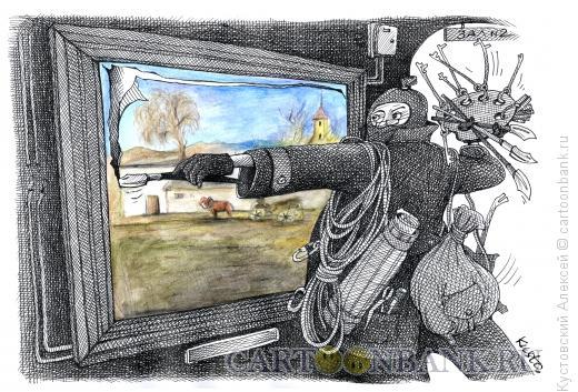Карикатура: вор-artist, Кустовский Алексей
