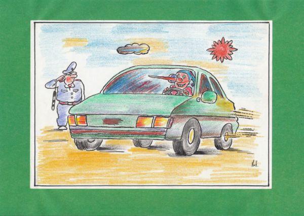 Карикатура: Богатенький  Буратино, Николай Кинчаров