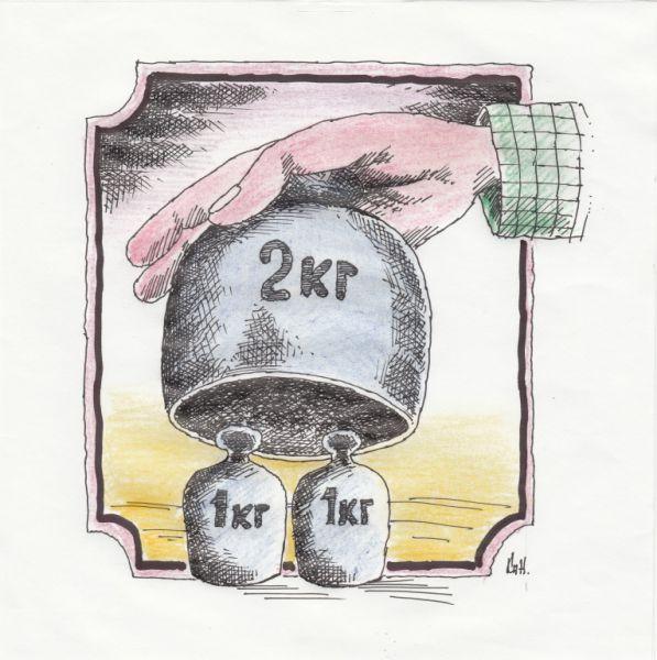 Карикатура: Два в одном, Николай Кинчаров