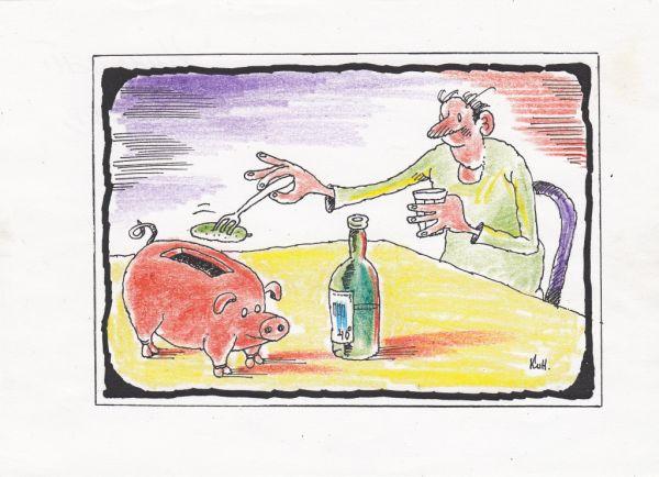 Карикатура: Соленые огурцы как ценность, Николай Кинчаров
