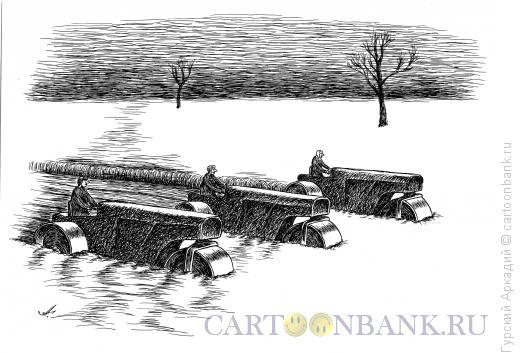 Карикатура: сельхозработы, Гурский Аркадий