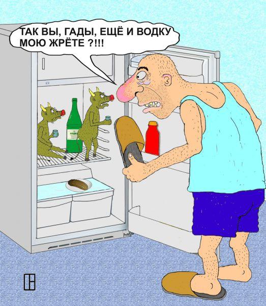 Карикатура: Застукал, Олег Тамбовцев