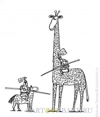 Карикатура: Дуэль, Мельник Леонид