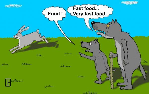 Карикатура: Фаст-фуд, Олег Тамбовцев