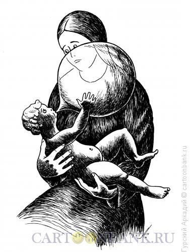 Карикатура: мадонна, Гурский Аркадий