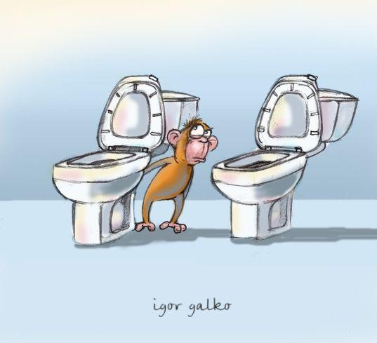 Карикатура: мартышка и очки, IgorHalko