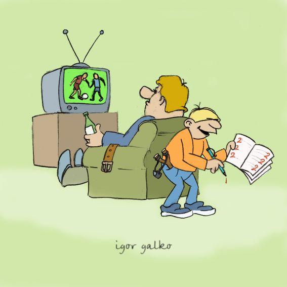 Карикатура: маленький мазахист, IgorHalko
