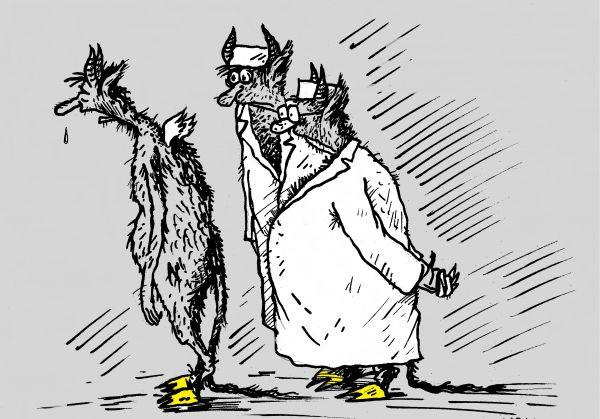 Карикатура: больной, михаил ларичев