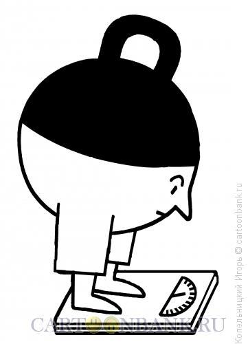 Карикатура: гиря и весы, Копельницкий Игорь