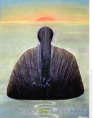 Карикатура: Падение в пропасть, Богорад Виктор