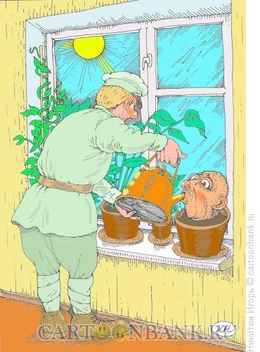 Карикатура: Сухов и Саид, Никитин Игорь