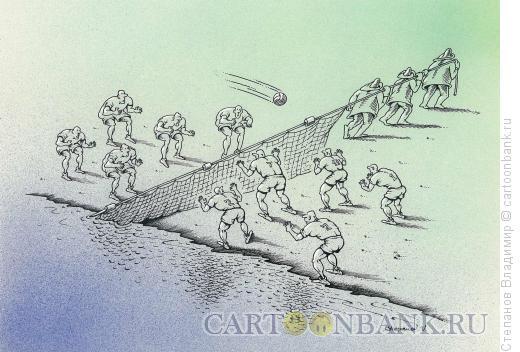 Карикатура: Делу время, Степанов Владимир