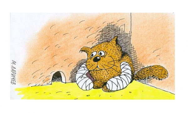 Карикатура: кот, михаил ларичев