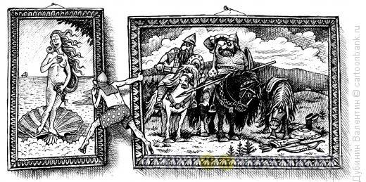 Карикатура: В самоволку, Дубинин Валентин