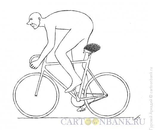 Карикатура: велосипедист, Гурский Аркадий