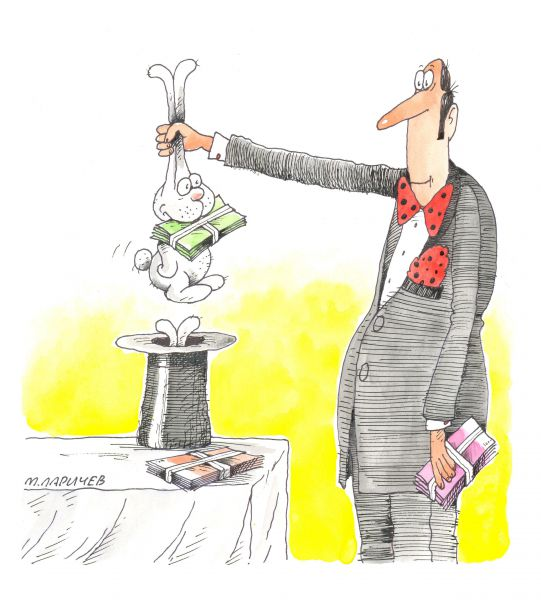 Карикатура: зайчик, михаил ларичев