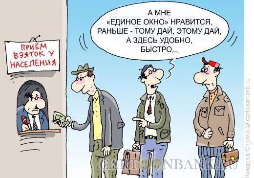 Карикатура: единое окно, Кокарев Сергей