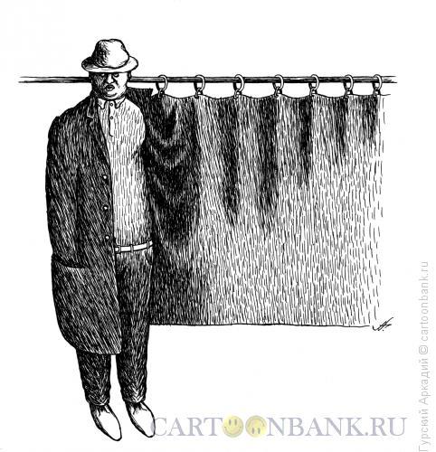 Карикатура: пальто и штора, Гурский Аркадий