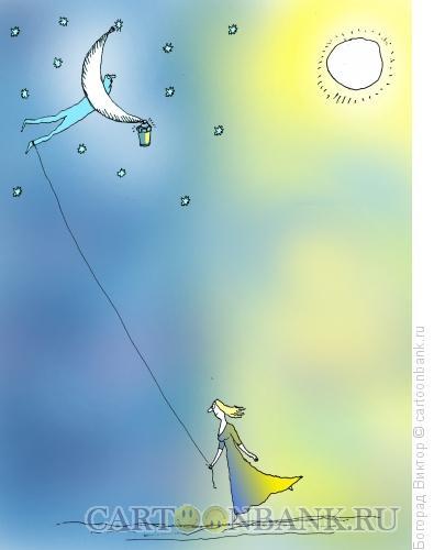 Карикатура: За звёздами, Богорад Виктор