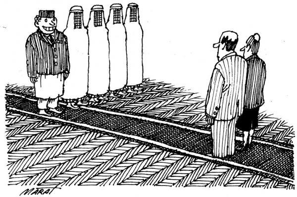 Карикатура: Встреча на уровне, Марат Валиахметов