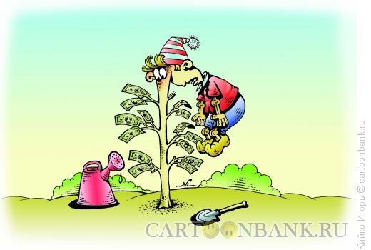 Карикатура: Буратино на поле чудес, Кийко Игорь