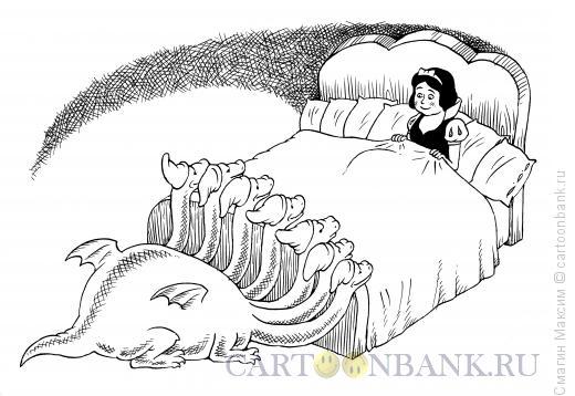 Карикатура: Белоснежка и дракон, Смагин Максим