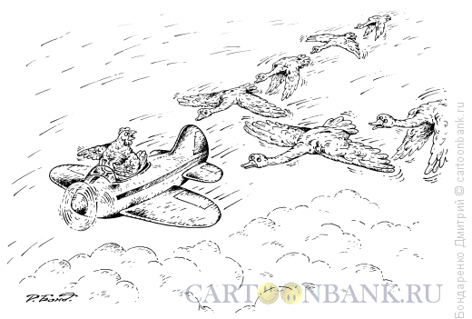 Карикатура: Вожак стаи, Бондаренко Дмитрий