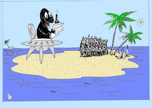 Карикатура: Лектор, Валерий Каненков