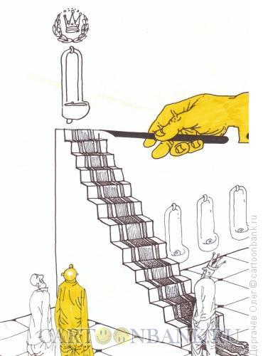 Карикатура: большому кораблю- и писсуар золотой, Дергачёв Олег