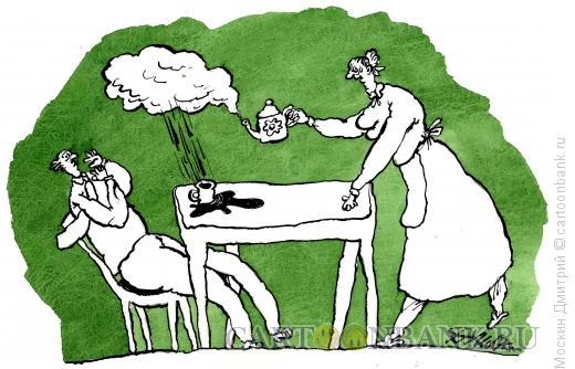 Карикатура: чаепитие, Москин Дмитрий