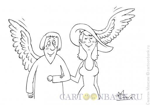 Карикатура: Ангельская шляпка, Смагин Максим