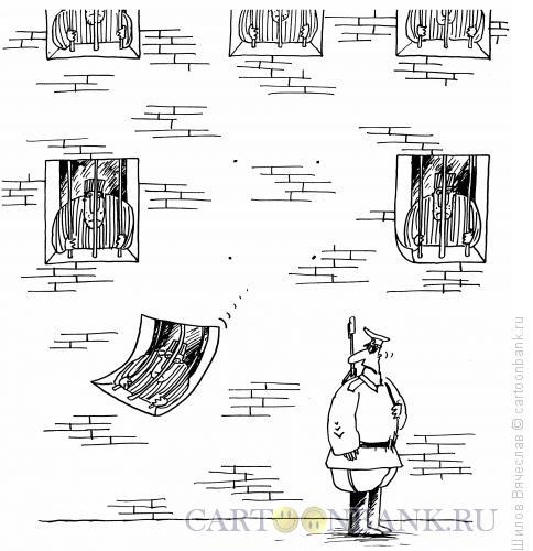 Карикатура: Опадающие окна, Шилов Вячеслав