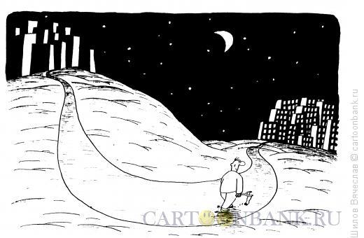 Карикатура: Пацан с рогаткой, Шилов Вячеслав